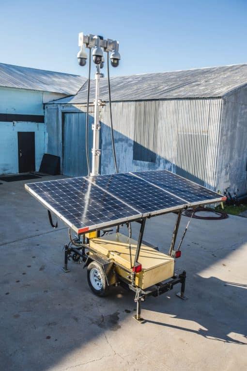 PTZ mobile solar camera trailer